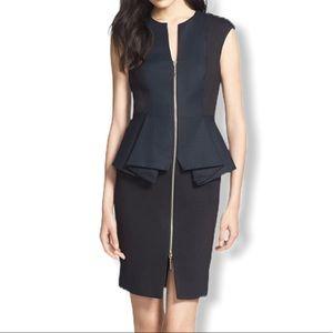 Ted Baker Dress 4/6 Peplum Black